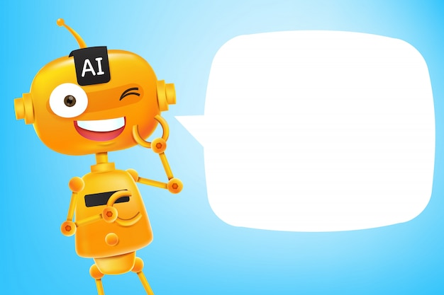 Ai robot cartoon Premium Vector