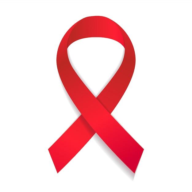 Aids-bewustzijn lint vectorillustratie Premium Vector