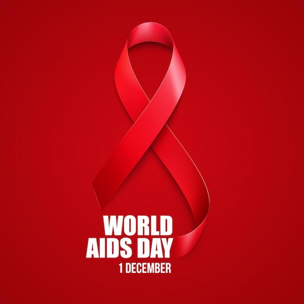Aids bewustzijn. wereld aidsdag concept. Premium Vector