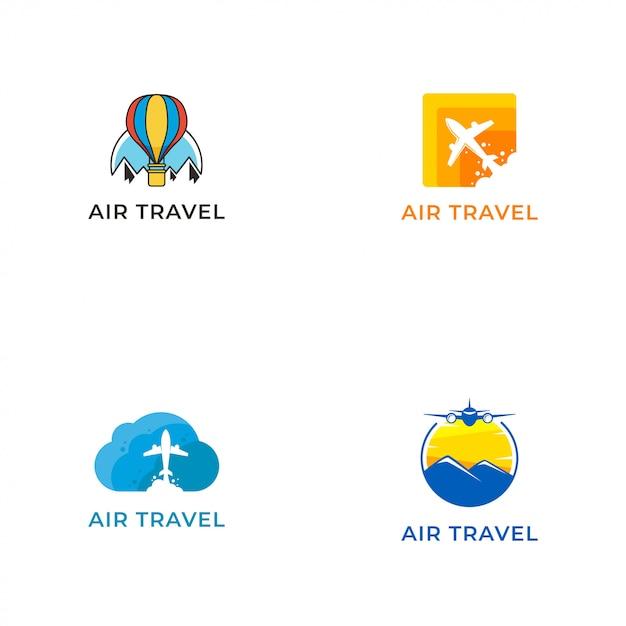 Air travel logo vector ontwerpsjabloon Premium Vector