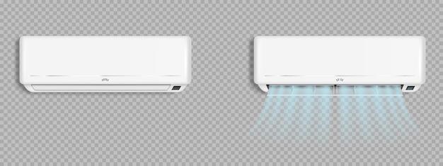 Airconditioner met koude windgolven, airconditioning Gratis Vector