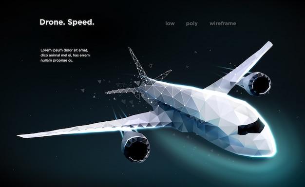 Airliner aircraft speed Premium Vector