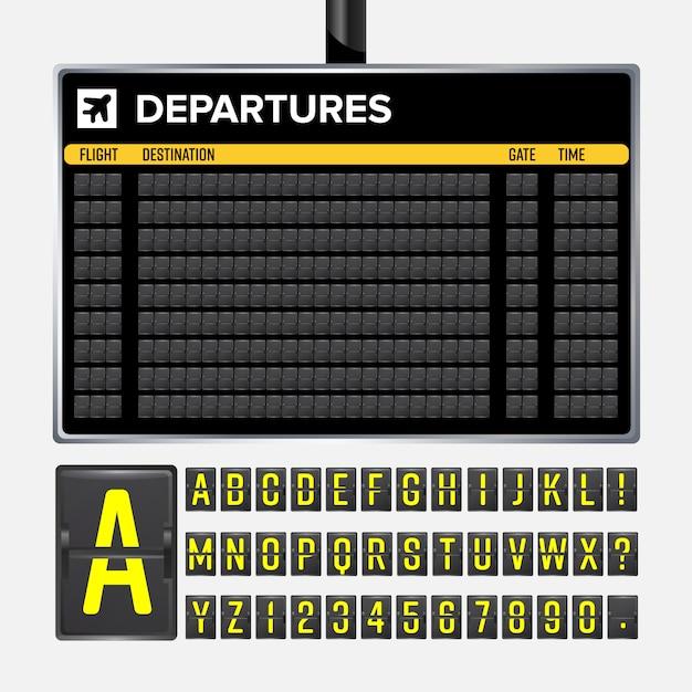 Airport board Premium Vector