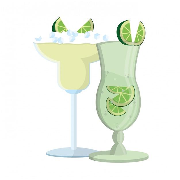 Alcoholische drank cartoon | Premium Vector