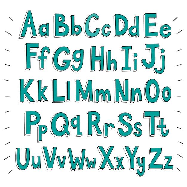 Alfabet achtergrond ontwerp Gratis Vector