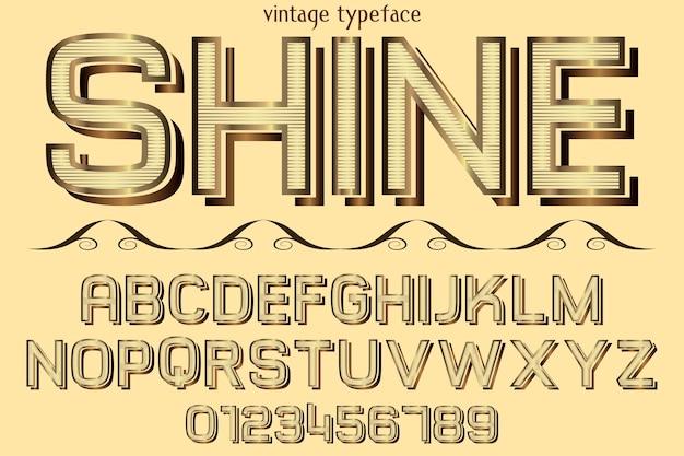 Alfabet grafische stijl glans Premium Vector