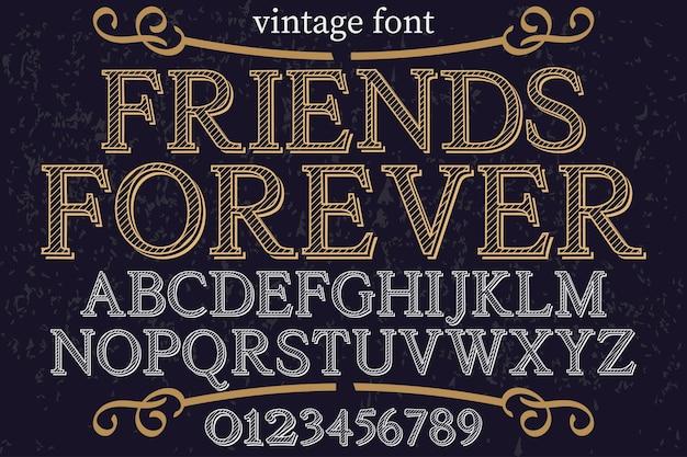 Alfabet lettertype ontwerp voor altijd Premium Vector