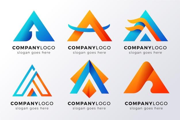 Alfabetische letter a logo-collectie Gratis Vector