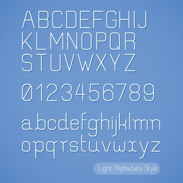 Alfabetlijnstijl. Premium Vector