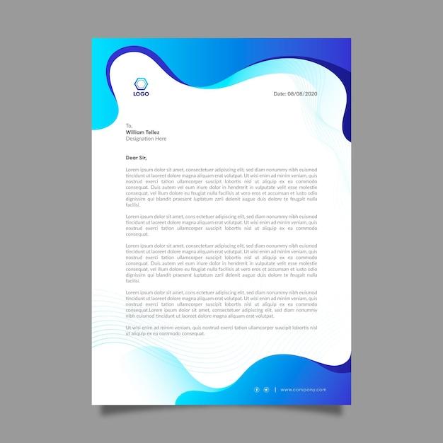 Algemeen zakelijk briefpapier Gratis Vector