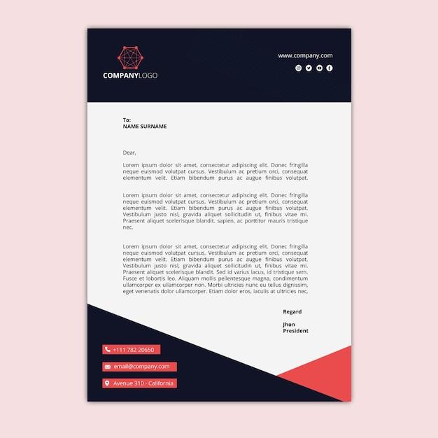 Algemeen zakelijk briefpapier Premium Vector