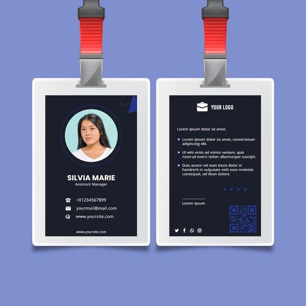 Algemene sjabloon voor visitekaartjes Premium Vector