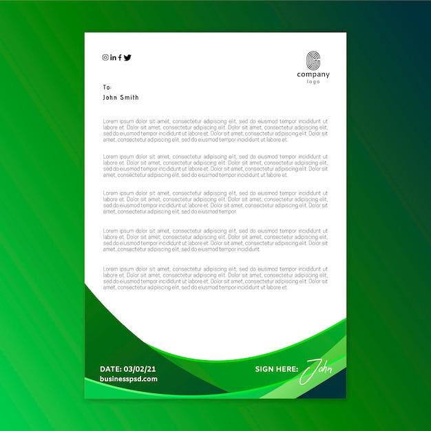 Algemene zakelijke briefhoofdsjabloon Premium Vector