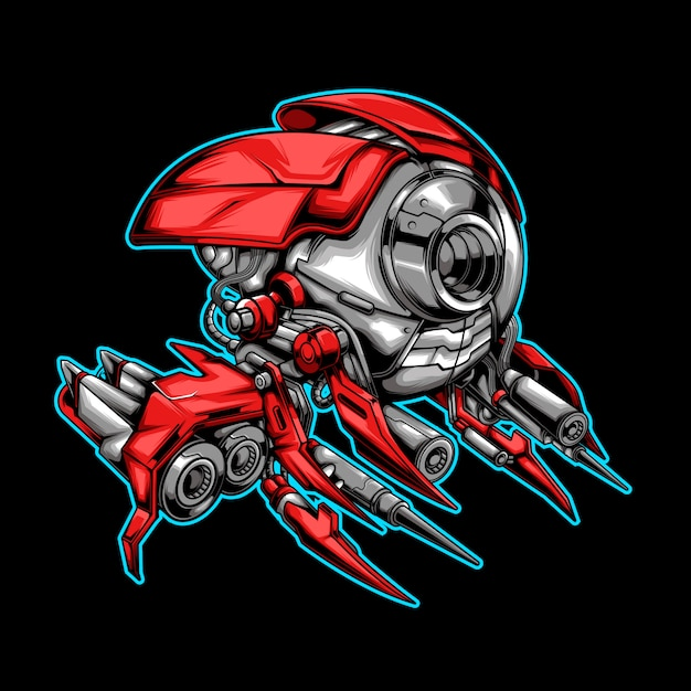 Alien vliegtuig illustratie Premium Vector