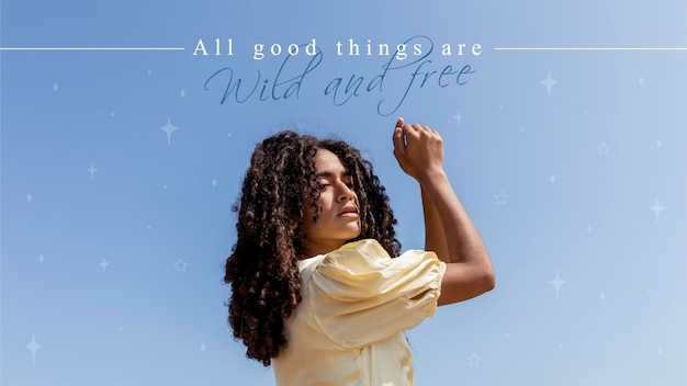 Alle goede dingen zijn wild en gratis offerte Gratis Vector