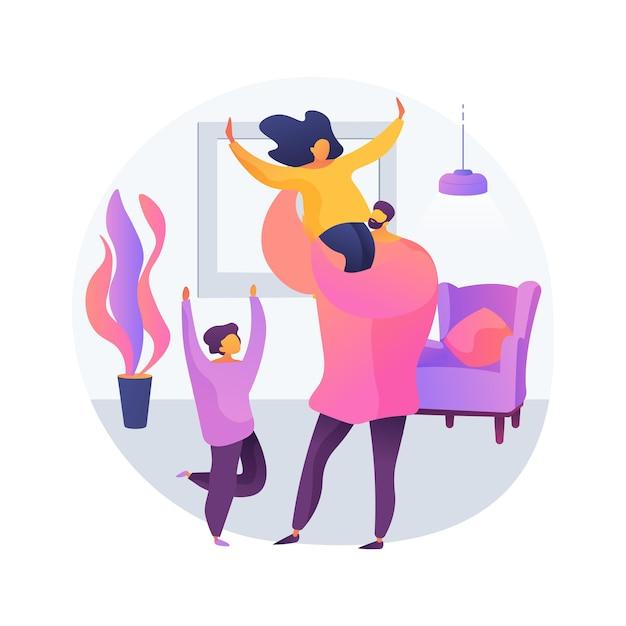 Alleenstaande ouder abstract concept vectorillustratie. adoptie door één persoon, moeder met zoon, bijstandsuitkeringen, zonder echtgenoot, kinderopvang, alleen opvoeden, abstracte metafoor voor ouderschap. Gratis Vector
