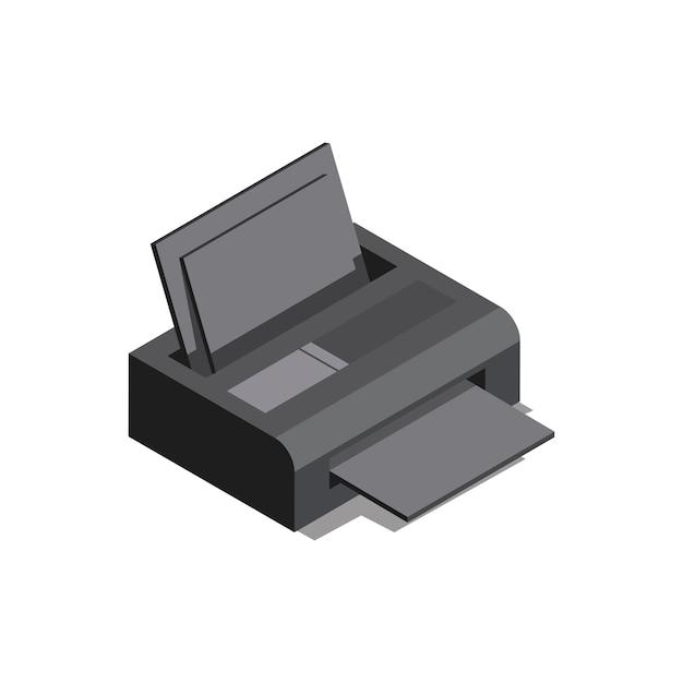 Alles in één printer geïsoleerd op achtergrond Gratis Vector