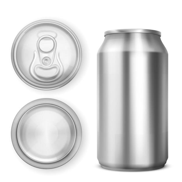 Aluminium blikje voor frisdrank of bier Gratis Vector