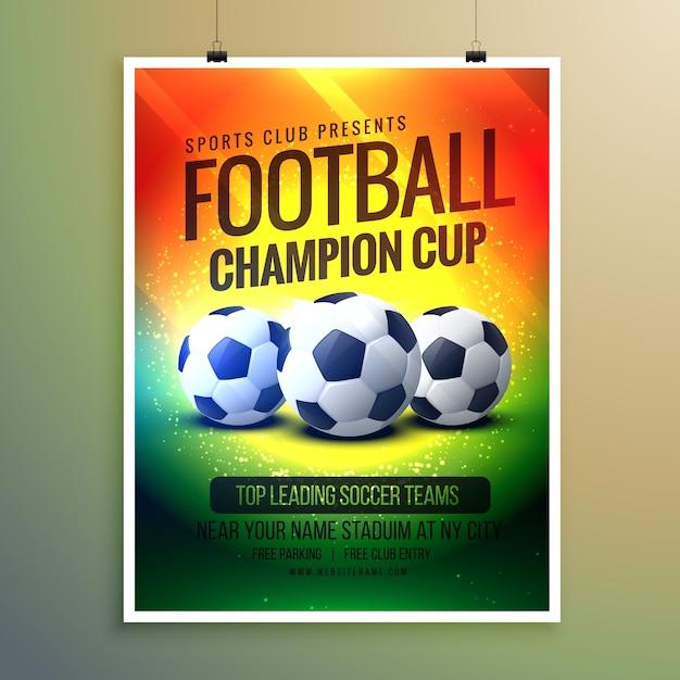 amazing voetbal achtergrond voor event flyer en uitnodiging Gratis Vector