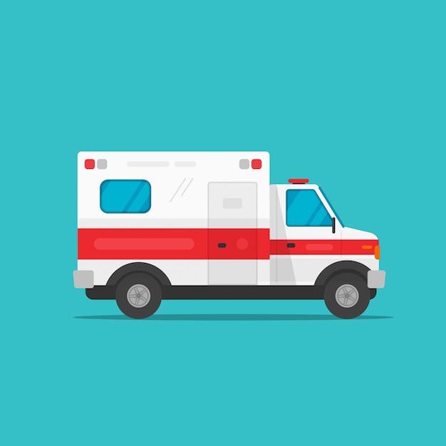 Ambulance auto of medisch voertuig voor noodgevallen Premium Vector
