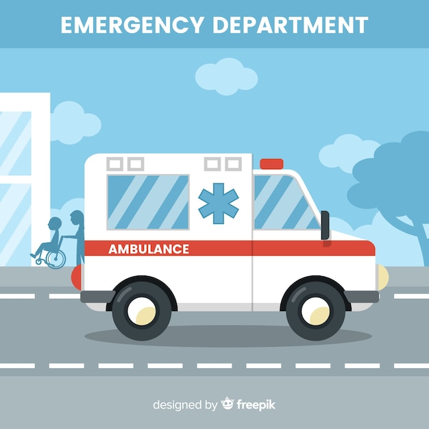 Ambulance concept Gratis Vector