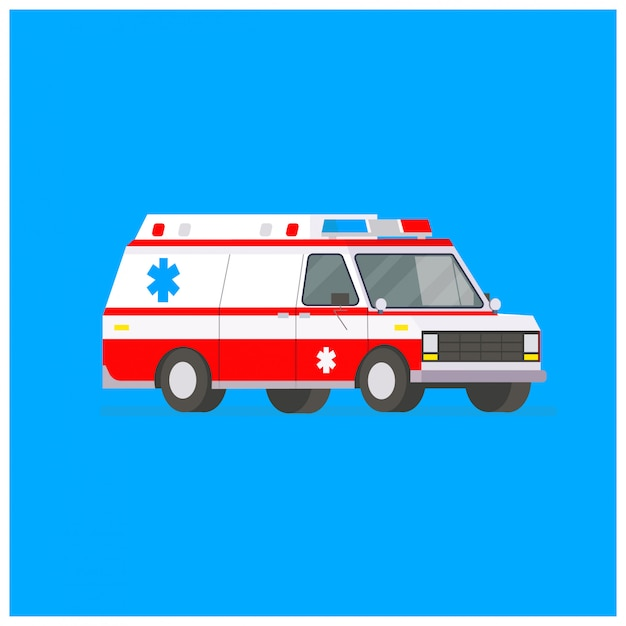 Ambulance illustratie Premium Vector