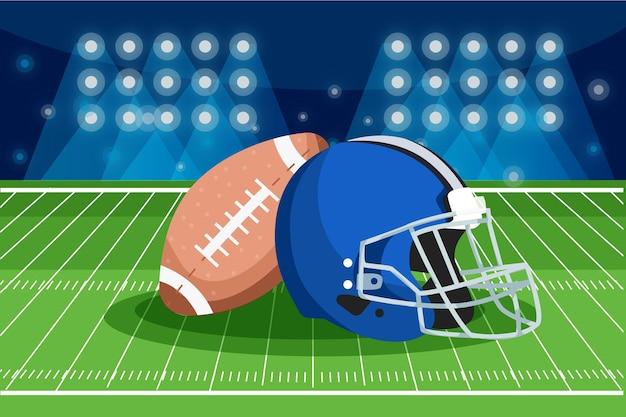 American football concept illustratie Gratis Vector