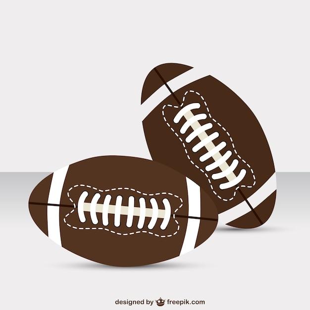 American football gratis template Gratis Vector
