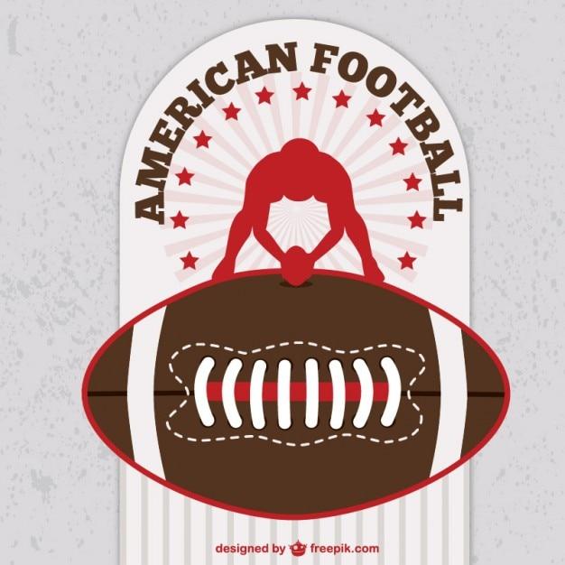 American football gratis vectoren Gratis Vector