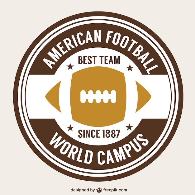 American football retro bal badge Gratis Vector