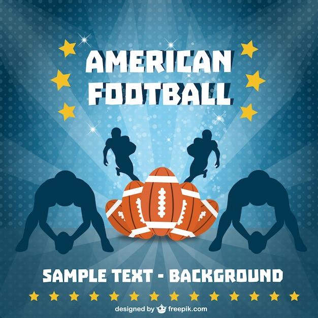 American football spelers achtergrond Gratis Vector