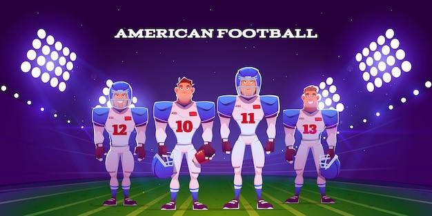 American football-spelers geïllustreerd Gratis Vector