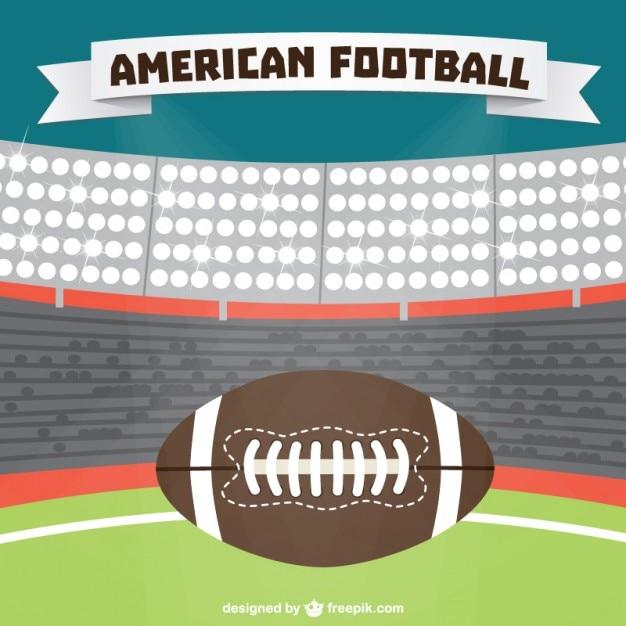 American football stadion achtergrond vector Gratis Vector
