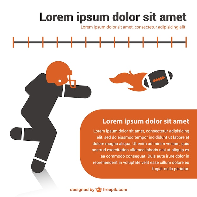 American football template design Gratis Vector