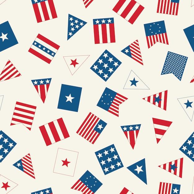 Amerikaans vlagpatroon Premium Vector