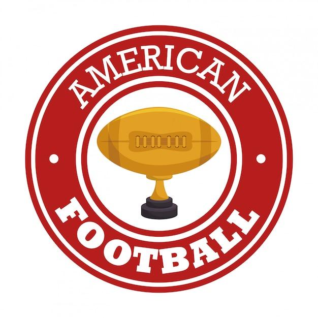 Amerikaans voetbal sport badge logo Gratis Vector