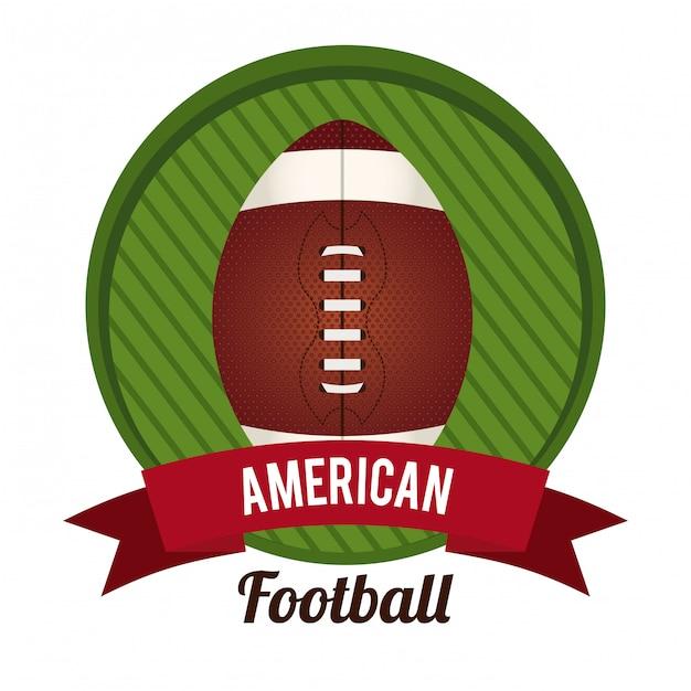 Amerikaans voetbal Premium Vector