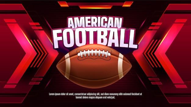 Amerikaans voetbalkampioenschap sjabloon Gratis Vector