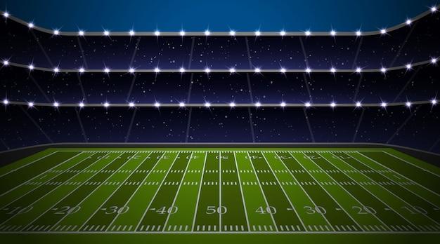 Amerikaans voetbalstadion Premium Vector
