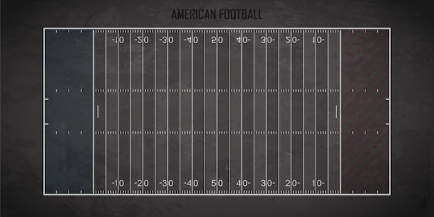 Amerikaans voetbalveld Premium Vector