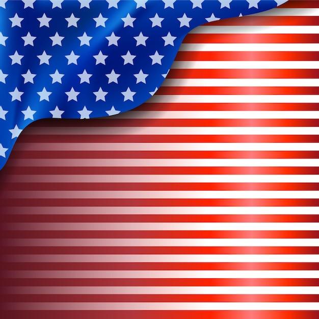 Amerikaanse achtergrond Premium Vector