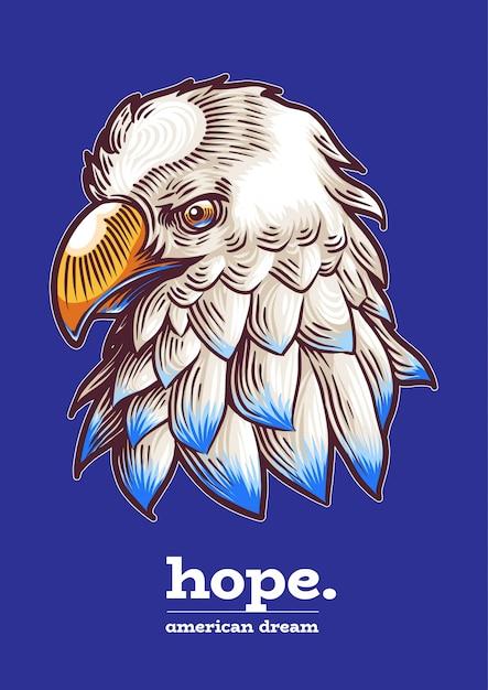 Amerikaanse adelaar vs veteranendag onafhankelijkheidsdag Premium Vector