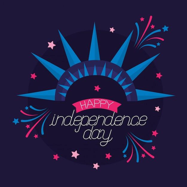 Amerikaanse gelukkige onafhankelijkheidsdag Gratis Vector