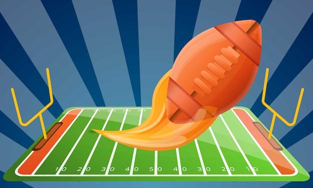 Amerikaanse het conceptenillustratie van het voetbal moderne materiaal, beeldverhaalstijl Premium Vector