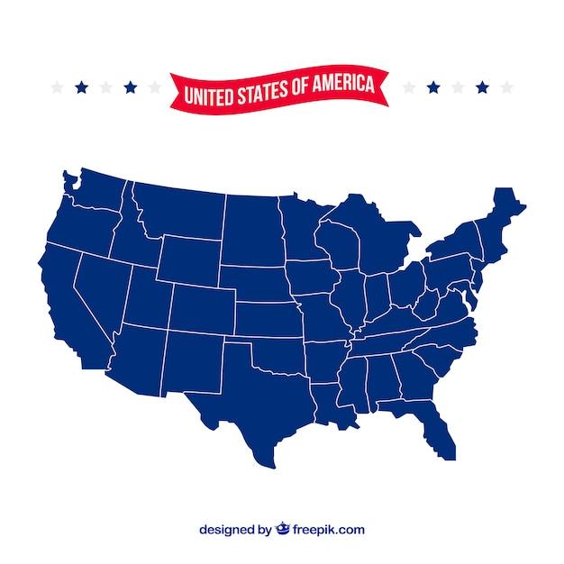 Amerikaanse kaart Gratis Vector