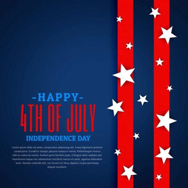 Amerikaanse onafhankelijkheid dag achtergrond Gratis Vector