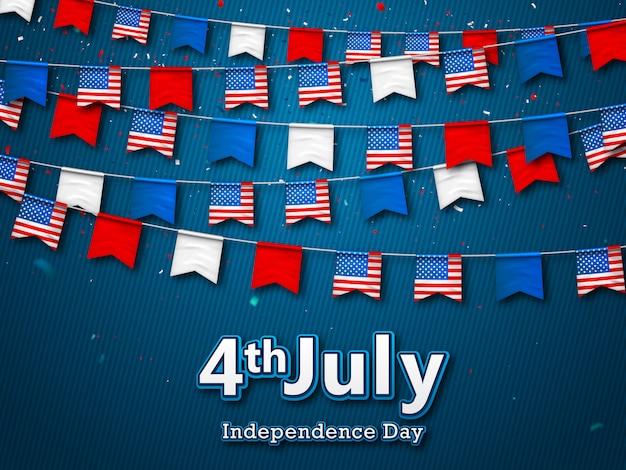 Amerikaanse onafhankelijkheidsdag achtergrond Premium Vector