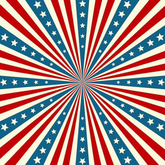 Amerikaanse onafhankelijkheidsdag patriottische achtergrond Premium Vector