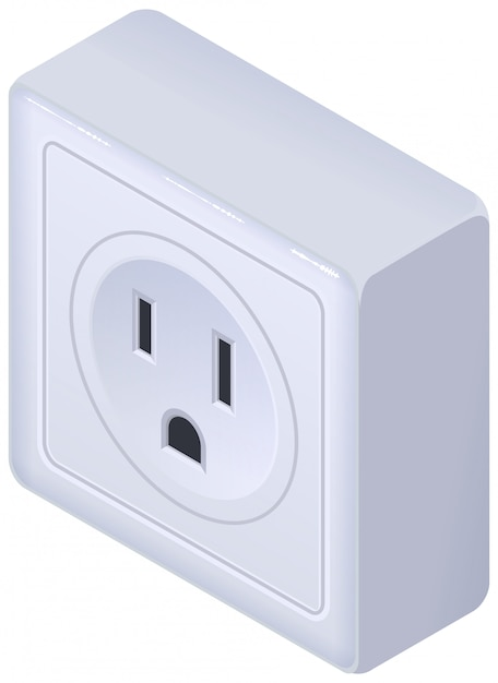 Amerikaanse outlet isometrisch Premium Vector