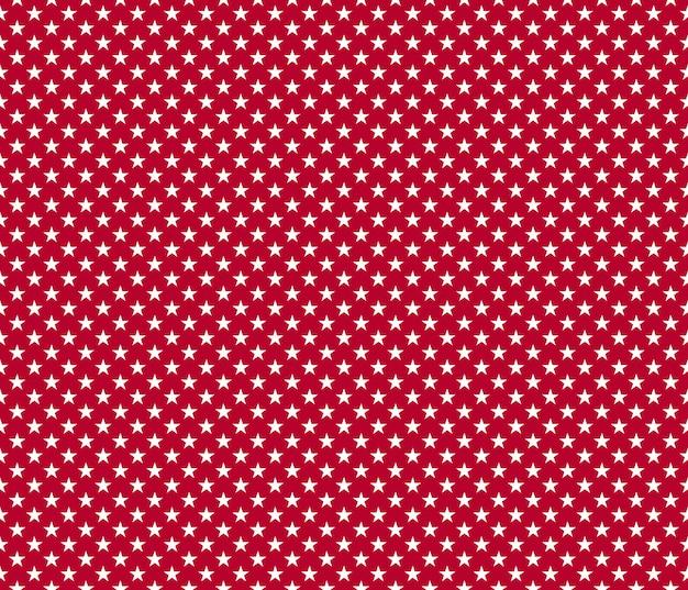 Amerikaanse patriottische naadloze patroon witte sterren op rode achtergrond Premium Vector